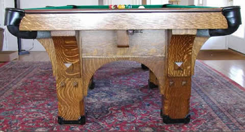 Antique America Eclectic Antiques - Brunswick mission pool table