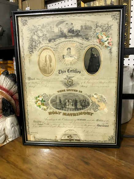1873 Marriage Certificate with Pictures. $47.50.jpg (2578955 bytes)